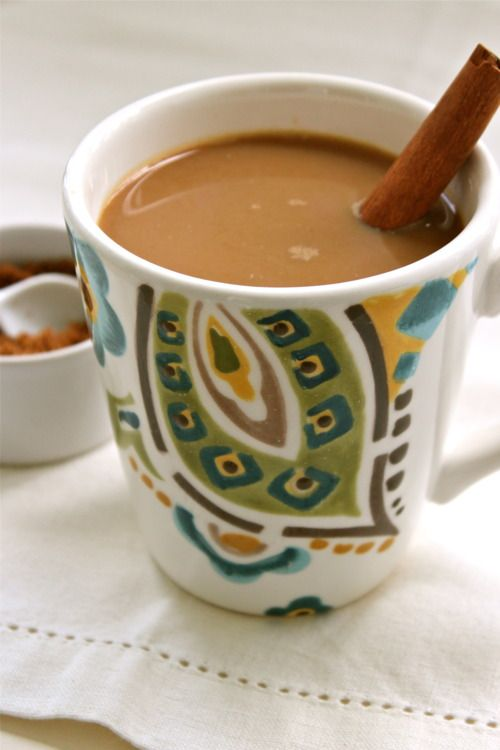 Delicious breakfast: Mexican cafe con leche recipe with cinnamon sticks
