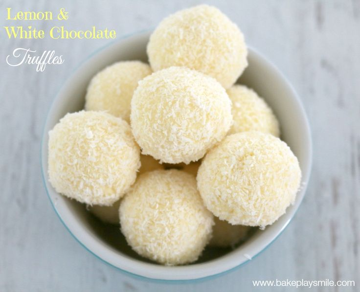 Thermomix Lemon & White Chocolate Truffles | Bake Play Smile