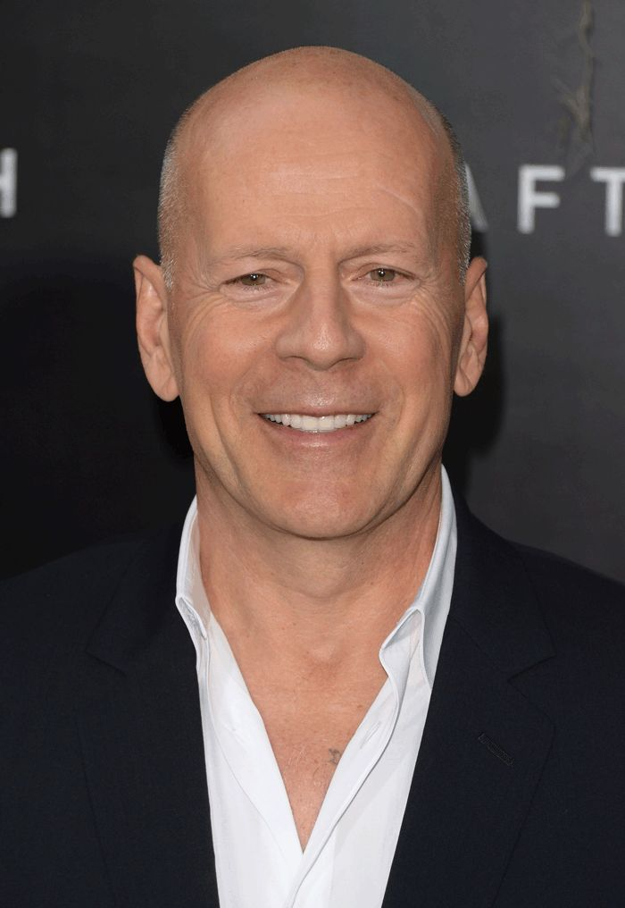 Bruce Willis Bald Men Loose Waves Hair Celebrity