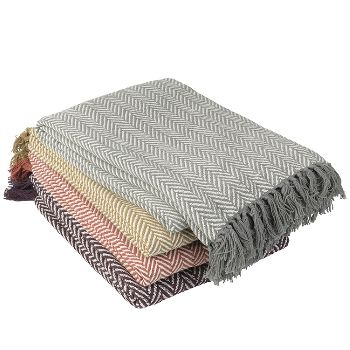 Lovely soft cotton throws from Broste Copenhagen, our favourite Danish homewares brand. Take your pick from a wonderful selection of rich earthy colours - perfect for the new season