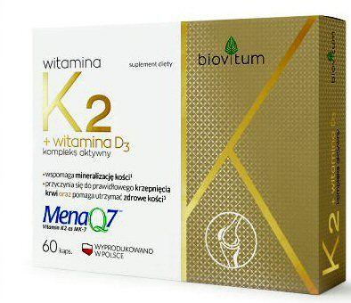 BIOVITUM WITAMINA K2 + D3 COLFARM