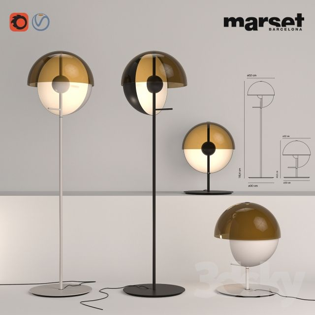 Marset theia floor table lamp