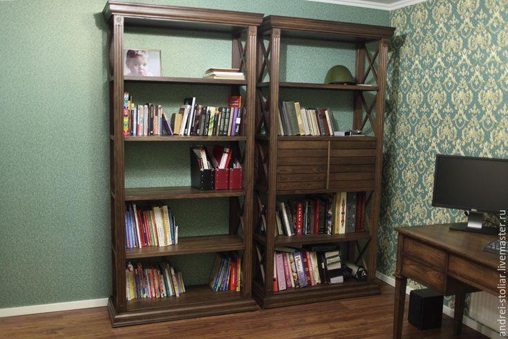Купить Деревянный книжный стеллаж - стеллаж, книжный шкаф, мебель ручной работы, мебель из дерева