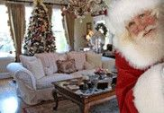 there's a website where you can upload a pic of your living room and add a santa. leave with eaten cookies and milk on Christmas morning!