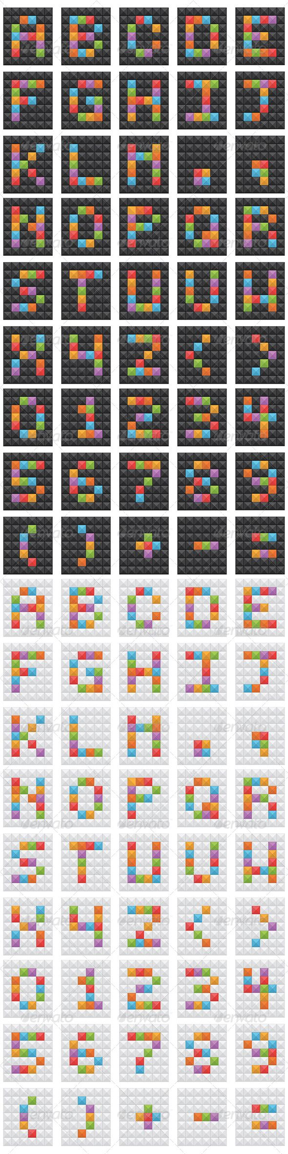 Square Vector Alphabet  #GraphicRiver         Square vector alphabet set with letters, numbers and punctuation.   2 variations – black and white.   Files included – Illustrator CS5, CS, EPS10, Transparent PNG and Hi res JPEG.     Created: 30October13 GraphicsFilesIncluded: TransparentPNG #JPGImage #VectorEPS #AIIllustrator Layered: Yes MinimumAdobeCSVersion: CS Tags: alphabet #black #blue #font #graphic #green #illustration #isolated #letter #modern #number #object #punctuation #red #sign…