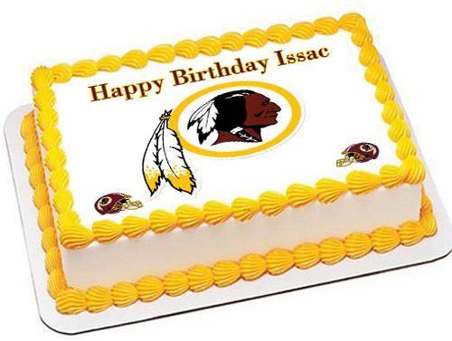 Washington Redskins Edible Birthday Cake Topper Or Cupcake