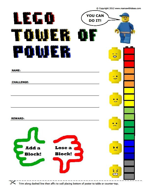 Lego Reward Chart Printable and other ideas...