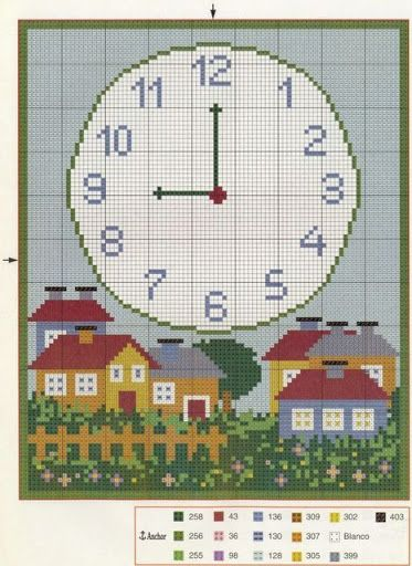 Knitting Cross Stitch Crochet : 13 best images about Cross Stitch Clocks on Pinterest Cross stitch free, Cl...