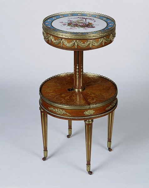 Work table given by Marie Antoinette to Mrs. William Eden whose husband was responsible for negotiating a treaty of commerce and navigation between England and France.  1775, Martin Carlin  Victoria and Albert Museum
