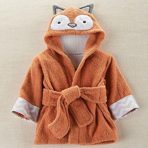 "Baby Aspen ""Rub-A-Dub, Fox in the Tub"" Hooded Spa Robe -  Aspen Brands - Toys""R""Us"