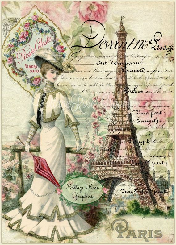 París, en la imagen digital de verano descargar rosas francés Script comprar 3…