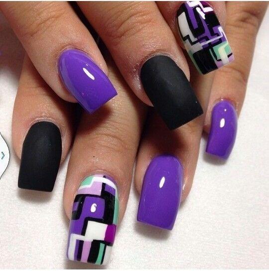 Purple Nail Art ❤