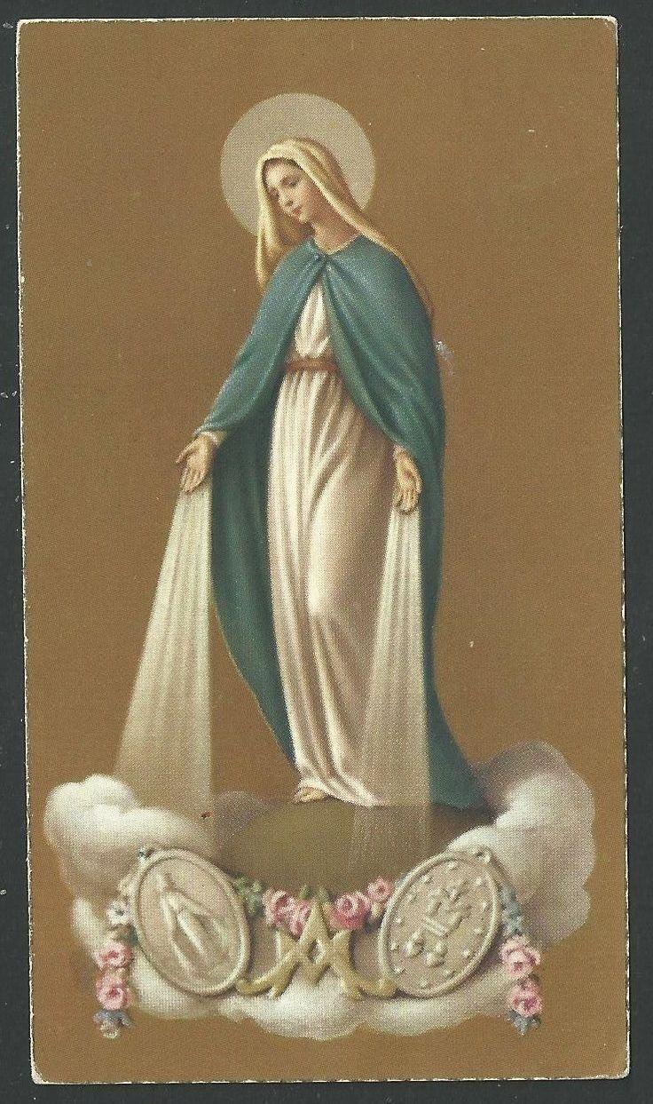 ESTAMPA antigua de la Virgen Milagrosa santino holy card image pieuse - EUR 3,00. Estampa antigua de la Virgen Milagrosa 222406156201