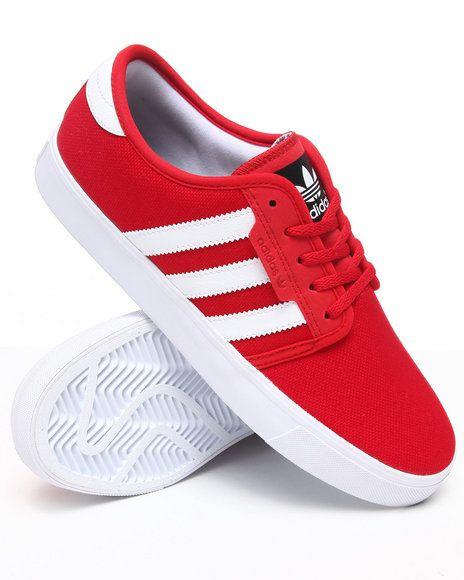 Men Seeley Denim Skate Sneakers Red