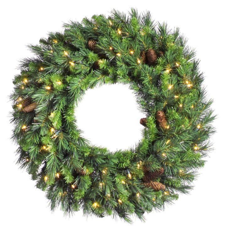 Vintage Vickerman Cheyenne Pine Pre lit LED Wreath ALED