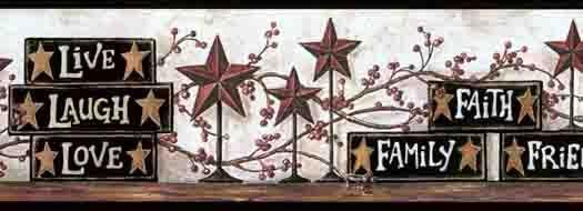 Black Blocks and Stars Wallpaper Border CB5503BDB - Wallpaper & Border   Wallpaper-inc.com