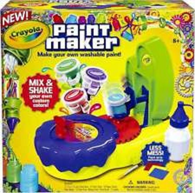 Crayola Paint Maker Kids Creativity Paint Kit Supplies Projects Washable Shake #Crayola
