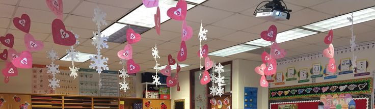 Name collection hearts and snow flake long vowels