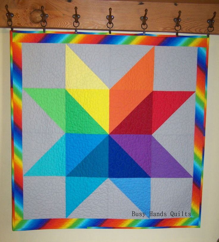 Busy Hands Quilts: Custom Rainbow Star Baby Quilt {A Finish + My First Pattern!}