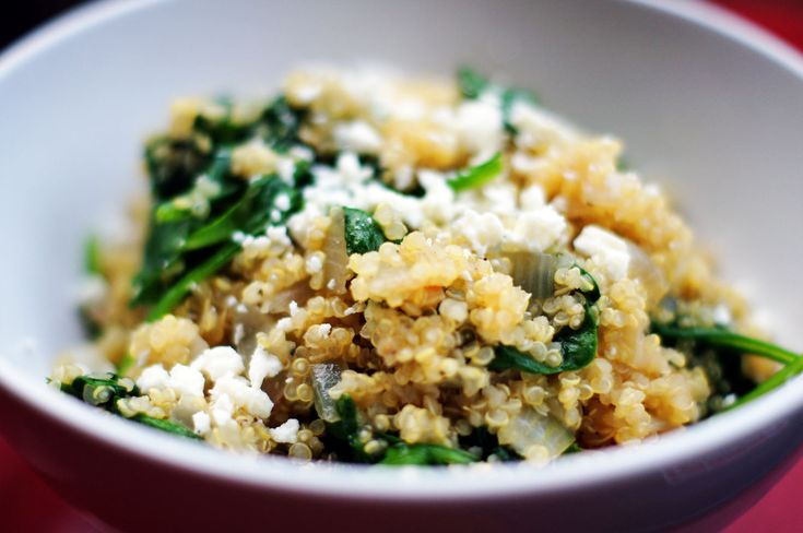 Quinoa with spinach and feta | Basket Produce Ideas | Pinterest
