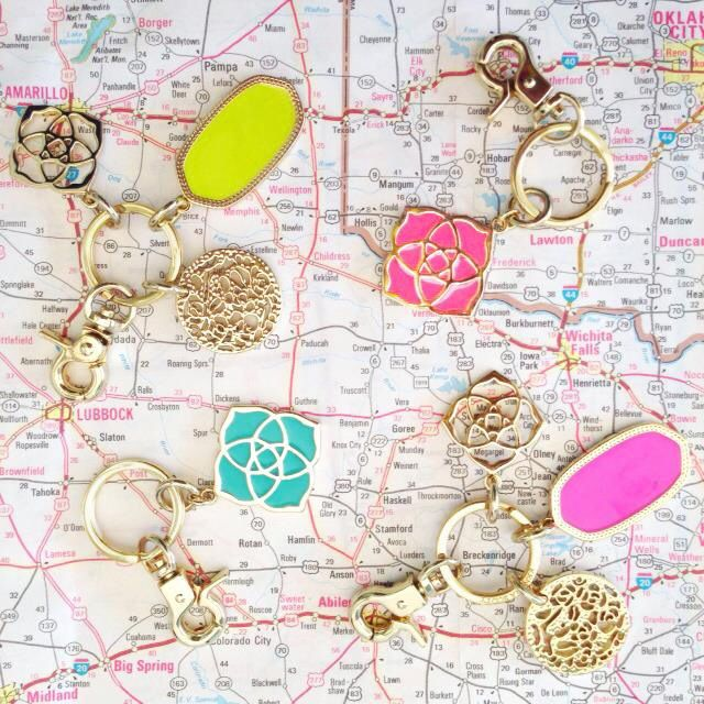 Kendra Scott key chains - yes please!