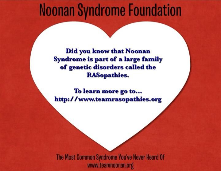 Noonan Syndrome Fact... Day 3 of 28 days for Noonan Syndrome Awareness