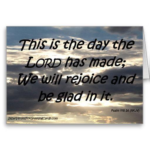 Scripture Birthday Card - Psalm 118:24