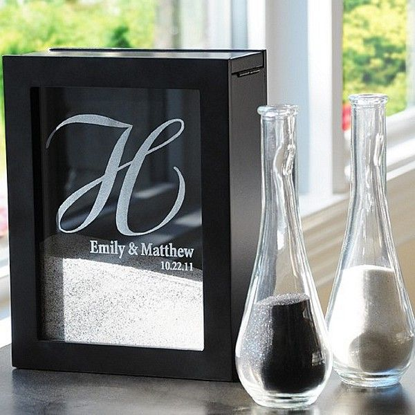 Create a life-long keepsake of your wedding ceremony with this personalized unity sand ceremony shadow box set. This unique alternative to traditional unity candle or sand ceremony sets boasts contemporary design to be displayed at home as a reminder of the sacred vows husband and wife shared on their wedding day.