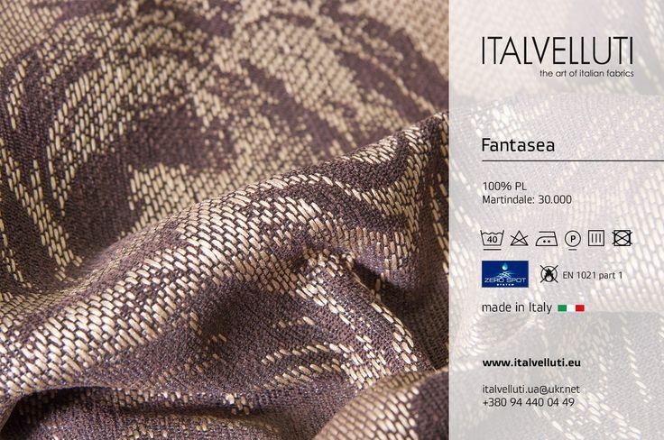 Роза... Этот цветок вдохновляет поэтов, художников, музыкантов... и, конечно, дизайнеров ткани!  Коллекция FANTASEA, цена от 14,8 евро/метр http://www.italvelluti.eu/ru/kolekcja/702,FANTASEA-collection