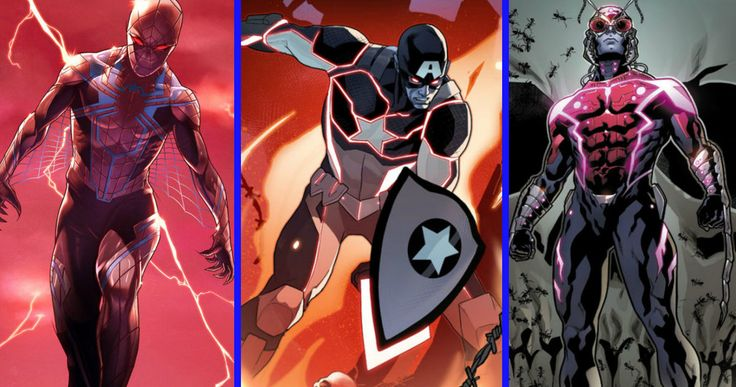 Avengers, X-Men, Spider-Man & More Get a Marvel Comics Makeover -- Marvel has unveiled its 'Age of Apocalypse' comic series with variant covers featuring Ant-Man, Captain America & Guardians of the galaxy. -- http://movieweb.com/marvel-age-of-apocalypse-avengers-spider-man-x-men-costumes/