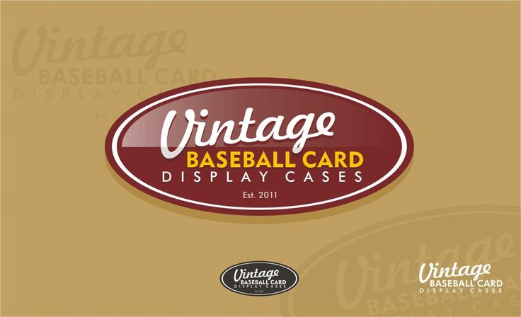 Help Vintage Baseball Card Display Cases with a new logo by scribe