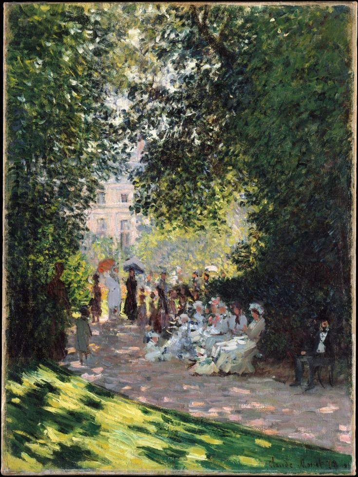The Parc Monceau by Claude Monet (French, Paris 1840–1926 Giverny)