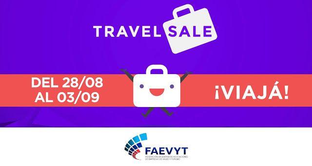 Se viene el TravelSale 2017: Las mejores ofertas para viajar donde quieras   La Federación Argentina de Asociaciones de Empresas de Viajes y Turismo (FAEVYT) en cooperación con la CACE (Cámara Argentina de Comercio Electrónico) lanza la tercera edición del TravelSale con importantes descuentos en viajes hoteles y turismo del 28 de agosto al 3 de septiembre. A través de TravelSale FAEVYT agrupa en su sitio web las ofertas y descuentos de las agencias de viajes asociadas presentando este año…