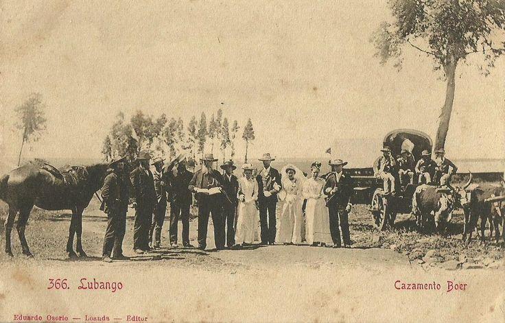 1910s Boer wedding in Lubango Angola, postcard