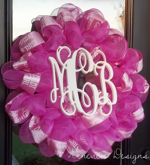 Baby Wreath Large Door Wreath Hospital By GenevieveDesignsBR, $75.00