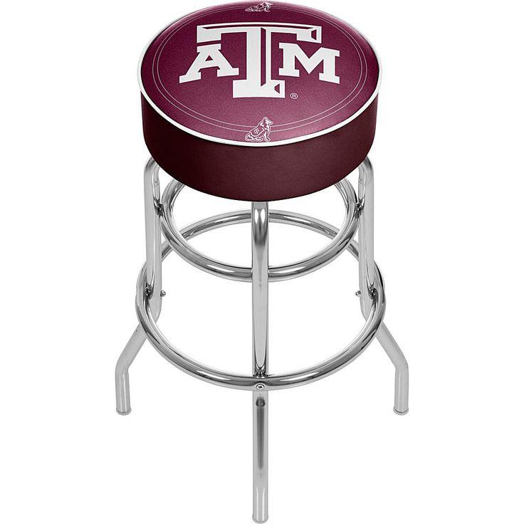 Trademark Global, Inc. Texas A&M University Padded Bar Stool