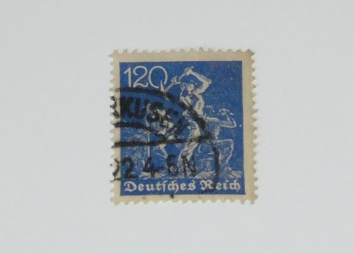 Stamp Pickers Germany 1921-22 Inflation 120pf Used Scott #173 VFU $110+