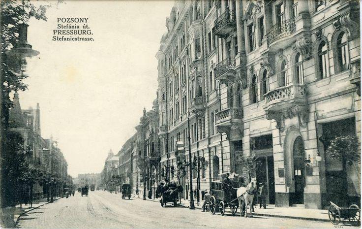 Pozsony Stefánia út, 1913.
