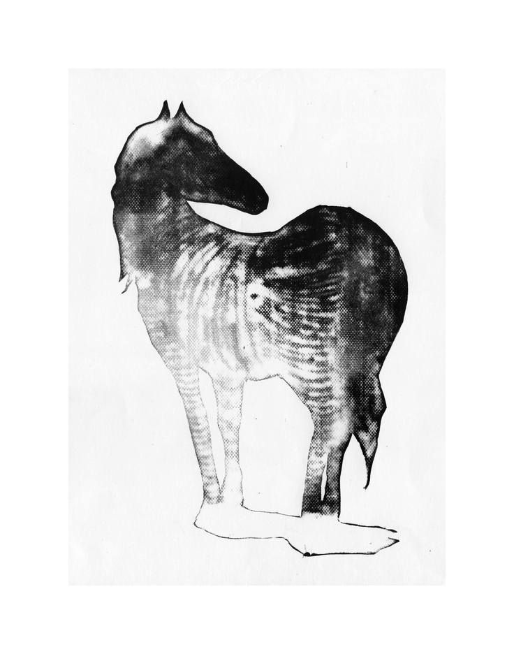 Zebra #2 | Linocut & Mixed technique