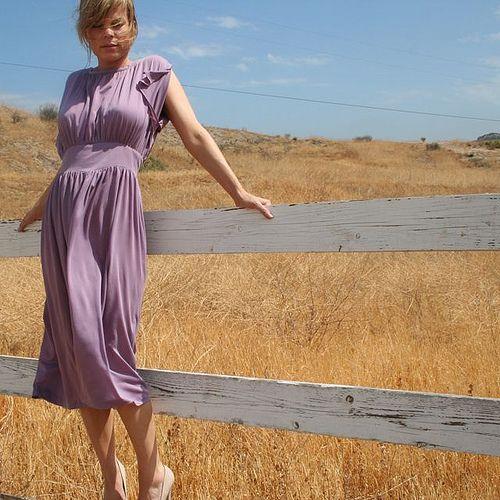 Vintage Purple Grecian Dress