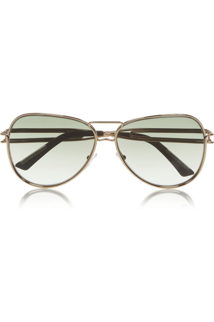 Roland Mouret   Aviator-style gold-plated sunglasses   NET-A-PORTER.COM
