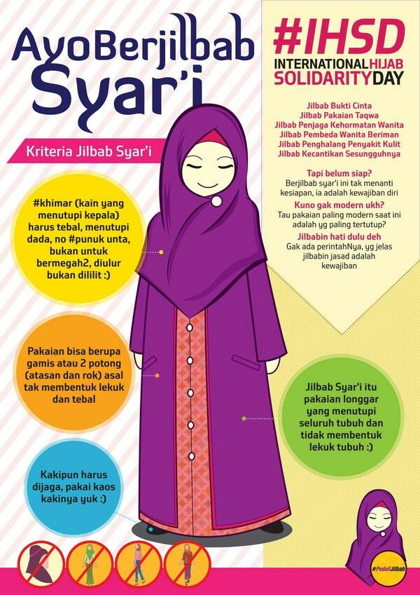 Syar'i Muslimah Clothes by Peduli Jilbab for International Hijab Solidarity Day #IHSD