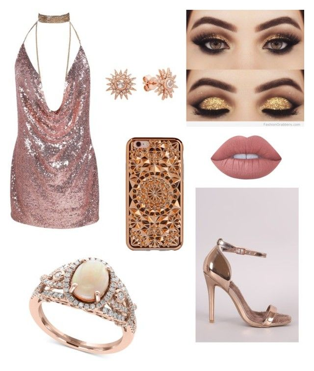 """rose"" by folea-petra-dana on Polyvore featuring Qupid, Lime Crime, Effy Jewelry, Felony Case and Kenza Lee"