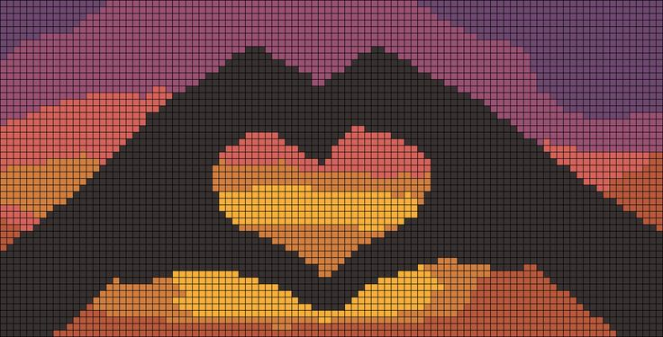 Romantic sunset friendship bracelet pattern number #9739 - For more patterns and tutorials visit our web or the app!