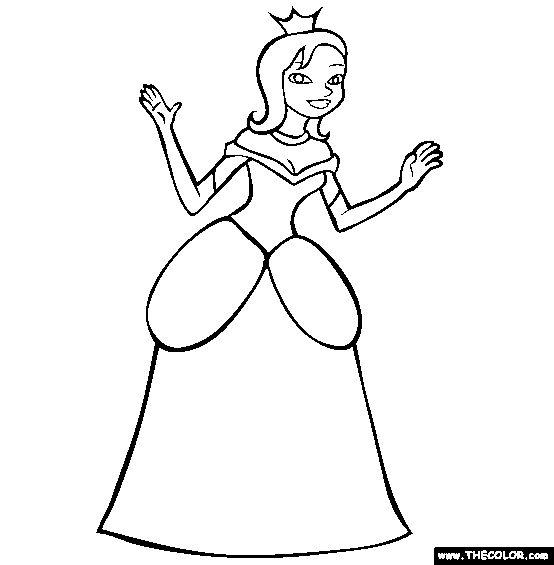 princess coloring page free princess online colo