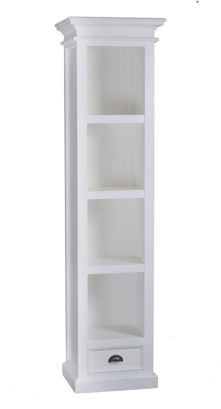 100 Tall Narrow Bookcase White Modern Vintage Furniture Check