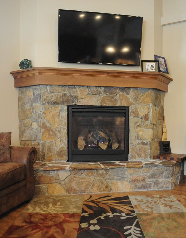 Fireplace in Timber River home, Post Falls, Idaho.