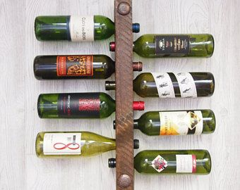 Gifts under 50 dollars, 5th Anniversary Gift, 5 year Anniversary gift for him, Wine rack, Unique Wedding Gift, Housewarming gift, rustic
