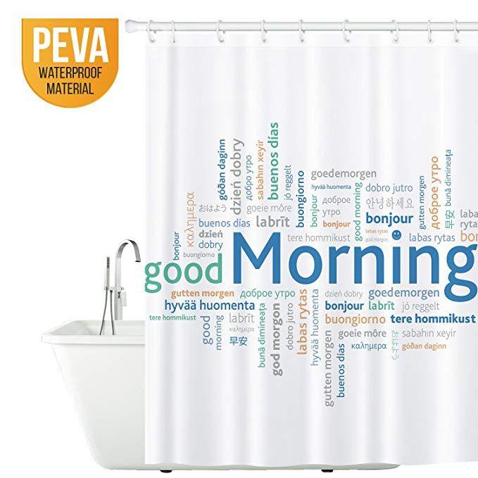 Tatkraft Good Morning Duschvorhang 180x180cm Peva Wasserdicht