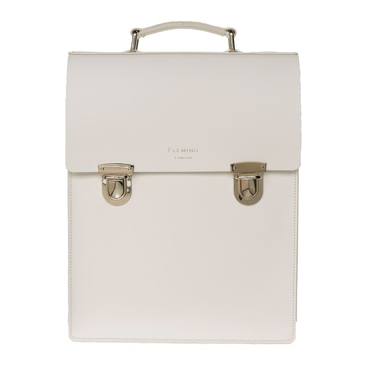 The Carnaby Backpack White | Sophie Fleming | Wolf & Badger